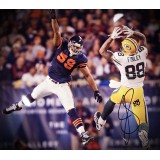 "16""x20"" Photo ""Catch Against the Bears"" Autographed by Jermichael Finley (#88)"