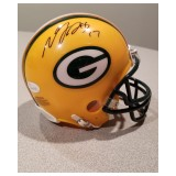 Packers Mini Helmet Autographed by Davante Adams (#17)
