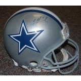 Full Size Dallas Cowboys Helmet Autographed by Troy Aikman (#8)