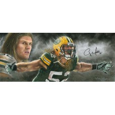 "Clay Matthews ""Storm Chaser"" Autographed by Clay Matthews (#52) Athlete Edition Artwork by Andy Goralski (Oversized)"
