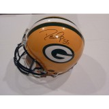 Packers Helmet Autographed by Desmond Bishop (#55)