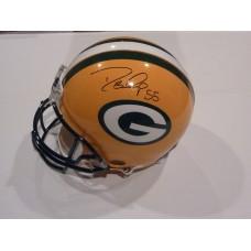 Packers Helmet Autographed by Desmond Bishop (#55)