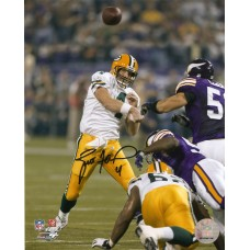 "8"" x 10"" Photo ""421st TD Record Setting Pass"" Autographed by Brett Favre (#4)"