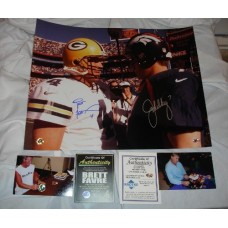 "Favre/Elway Win Record 16"" x 20"" Photo Autographed by Brett Favre (#4)"