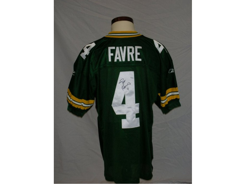 Packers Authentic Style Home Jersey Autographed by Brett Favre ( 4) eb31b9175