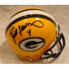 Packers Mini Helmet Autographed by Brett Favre