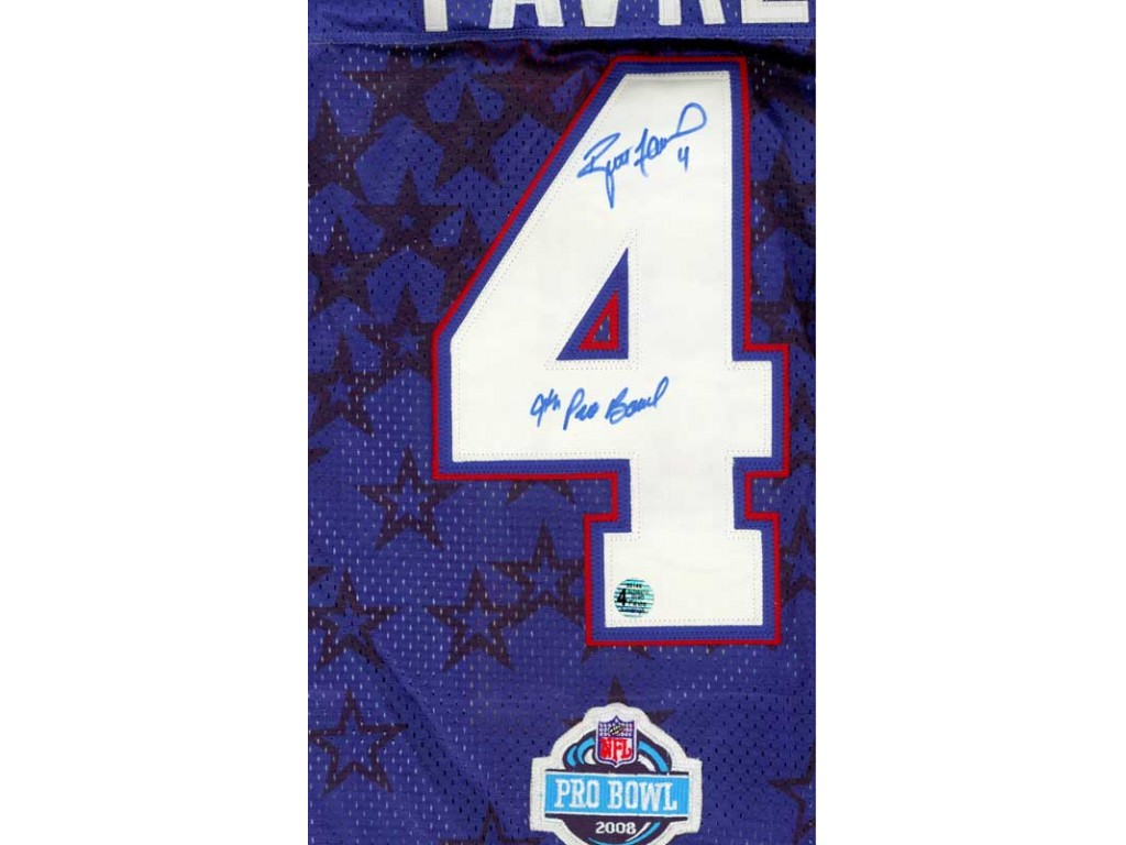 hot sale online f2999 66006 2008 Authentic style Jersey Autographed by Brett Favre (#4)