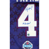 2008 Authentic style Jersey Autographed by Brett Favre (#4)