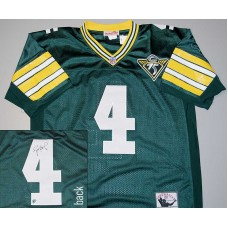 75th Anniversary 1993 Authentic Style Throwback Jersey Signed by Brett Favre (#4)