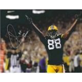 "16""x20"" Photo ""Hands up for Touchdown"" Autographed by Jermichael Finley (#88)"