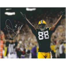 "11""x14"" Photo ""Hands up for Touchdown"" Autographed by Jermichael Finley (#88)"