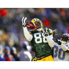 "11""x14"" Photo ""About to Catch"" Autographed by Jermichael Finley (#88)"