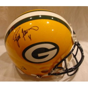 Packers Full Size Helmet Autographed by Brett Favre (#4)