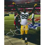 "11""x14"" Hands Up Photo Autographed by James Jones (#89)"
