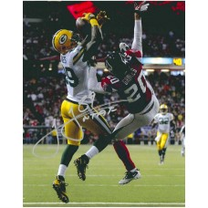 "11""x14"" Playoff Catch Photo Autographed by James Jones (#89)"