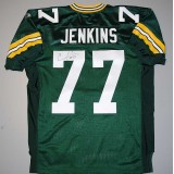 Authentic Style Packers Home Jersey Autographed by Cullen Jenkins (#77)