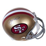 Full Size San Francisco 49ers Helmet Autographed by Joe Montana (#16)