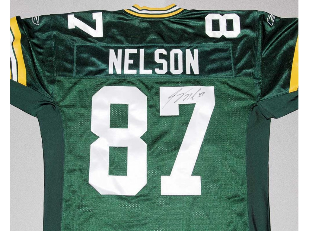 Authentic Style Packers Home Jersey Autographed by Jordy Nelson ( 87) 40470d7af