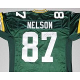 Authentic Style Packers Home Jersey Autographed by Jordy Nelson (#87)