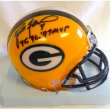 "Packers Mini Helmet with ""MVP 95, 96, 97"" Autographed by Brett Favre (#4)"