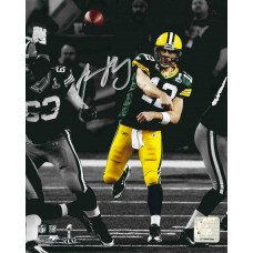 """16""""x20"""" Super Bowl XLV Spotlight Photo Autographed by Aaron Rodgers (#12)"""