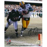 "8""x10"" 2010 Champ Game TD Autographed by Aaron Rodgers (#12)"