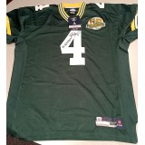 Packers Lambeu Field Home Jersey Autographed by Brett Favre (#4)
