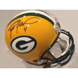 Packers Full Size Replica Helmet Autographed by Brett Favre (#4)