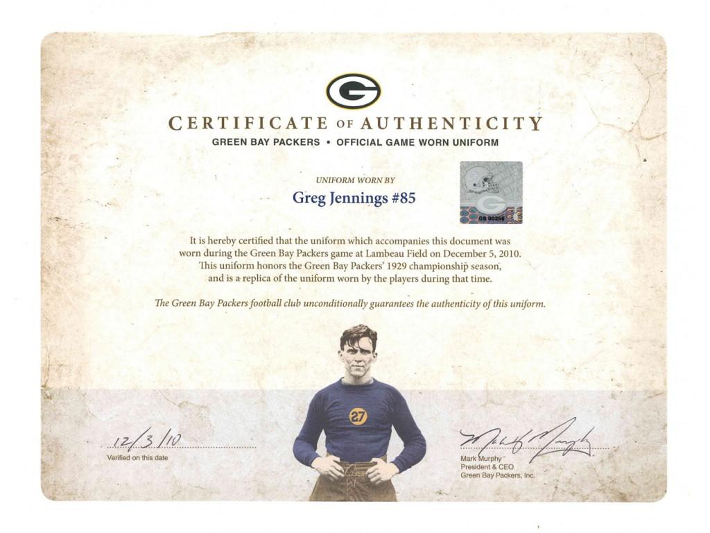 Greg Jennings (#85) Game Worn Throwback Jersey (12/05/10 vs