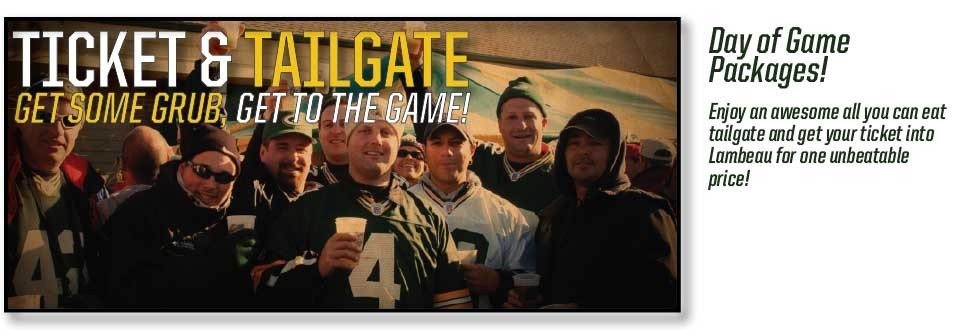 Green Bay Packers Ticket & Tailgate Packages!