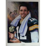 Aaron Rodgers, 2011 NFL Most Valuable Player, Fine art German Etching Paper Piece- Artist Proof, by Andrew Goralski