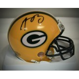 Packers Mini Helmet Autographed by Aaron Rodgers