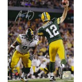 "8"" x 10"" Photo ""Super Bowl XLV Throw"" autographed by Aaron Rodgers (#12)"