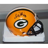 Packers Mini Helmet Autographed by Tramon Williams (#38)