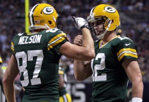 Aaron Rodgers & Jordy Nelson - Packers v. Rams 2012