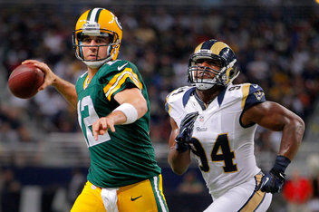 Aaron Rodgers - Green Bay Packers v St Louis Rams
