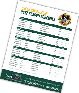 2017 Packers Schedule Released Amp Printable Schedule Inside