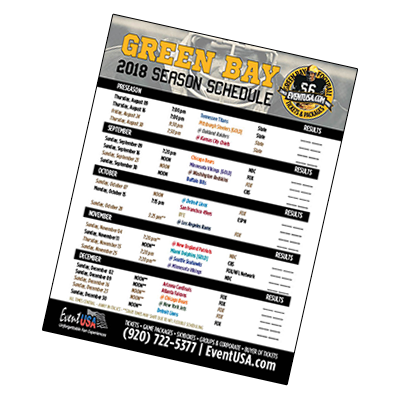 green bay packers schedule 2018 printable