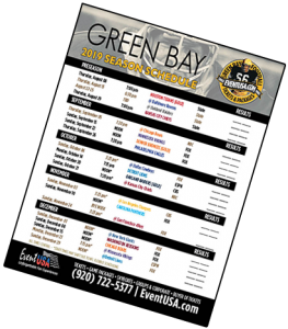 picture relating to Printable Packer Schedule called Function United states (Packers Tickets and Activity Systems) 2019 Environmentally friendly