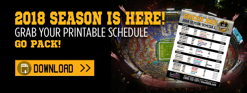 green bay packers printable schedule