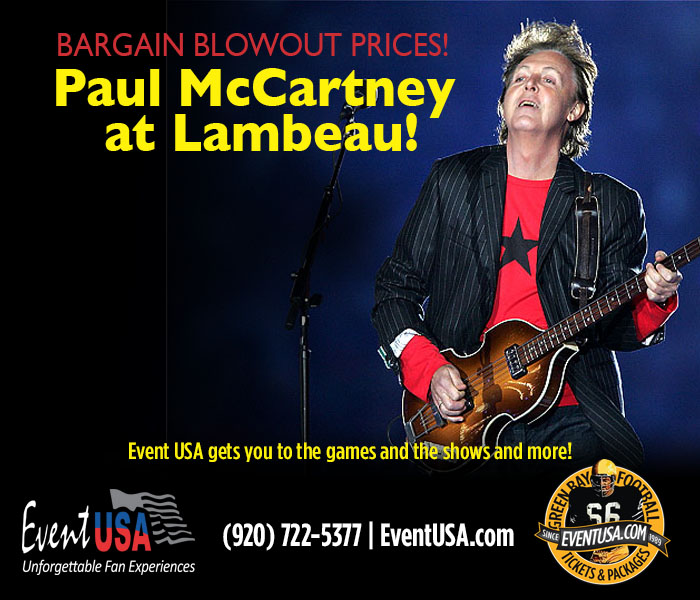 paul mccartney lambeau ticket sale